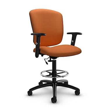 Global® (5338-6 IM81) Supra-X Drafting Task Chair, Imprint Paprika Fabric, Orange