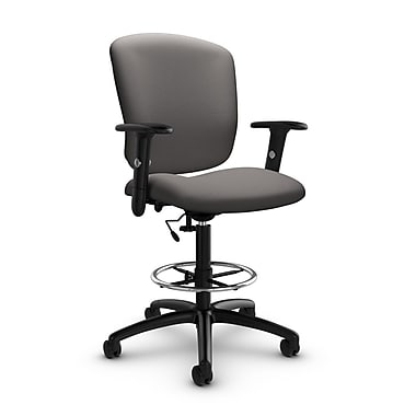Global® (5338-6 IM82) Supra-X Drafting Task Chair, Imprint Graphite Fabric, Grey