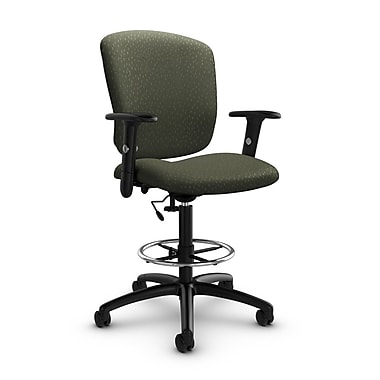 Global® (5338-6 MT22) Supra-X Drafting Task Chair, Match Moss Fabric, Green