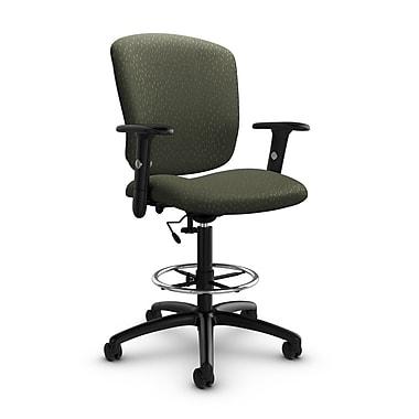 GlobalMD – Chaise fonctionnelle pour dessinateur Supra-X (5338-6 MT22), tissu assorti mousse, vert