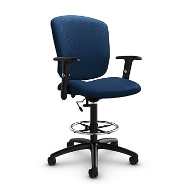 Global® (5338-6 MT26) Supra-X Drafting Task Chair, Match Wave Fabric, Blue
