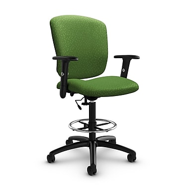 Global® (5338-6 MT27) Supra-X Drafting Task Chair, Match Green Fabric, Green