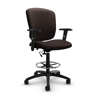 Global® (5338-6 MT28) Supra-X Drafting Task Chair, Match Chocolate Fabric, Brown