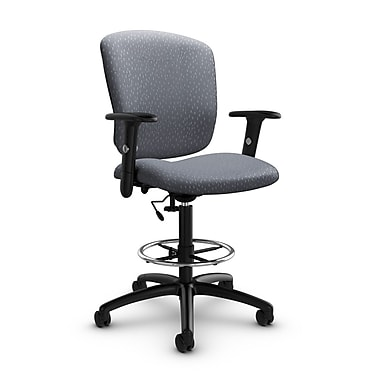 Global® (5338-6 MT30) Supra-X Drafting Task Chair, Match Grey Fabric, Grey