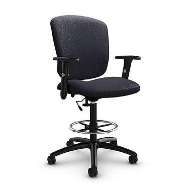 Global® (5338-6 MT31) Supra-X Drafting Task Chair, Match Quarry Fabric, Grey