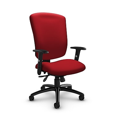 Global® (5333-3 IM74) Supra-X Multi Tilter Chair, Imprint Candy Apple Fabric, Red