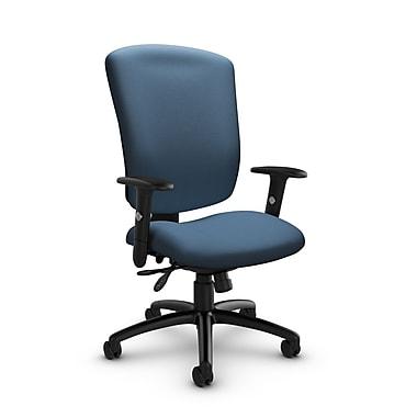 Global® (5333-3 IM75) Supra-X Multi Tilter Chair, Imprint Ocean Fabric, Blue