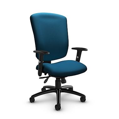 Global® (5333-3 IM76) Supra-X Multi Tilter Chair, Imprint Navy Fabric, Blue