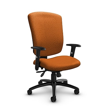 Global - cahiers (5333-3 MT23) supra-X fauteuil inclinable, tissu agencé, orange