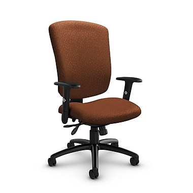 Global® (5333-3 MT24) Supra-X Multi Tilter Chair, Match Sunset Fabric, Orange