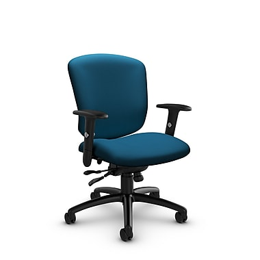 Global® (5336-1 IM76) Supra-X Synchro Tilter Chair, Imprint Navy Fabric, Blue