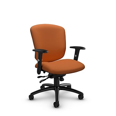 Global® (5336-1 IM81) Supra-X Synchro Tilter Chair, Imprint Paprika Fabric, Orange