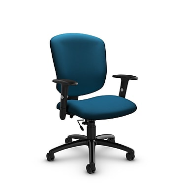 Global® (5336-6 IM76) Supra-X Task Chair, Imprint Navy Fabric, Blue