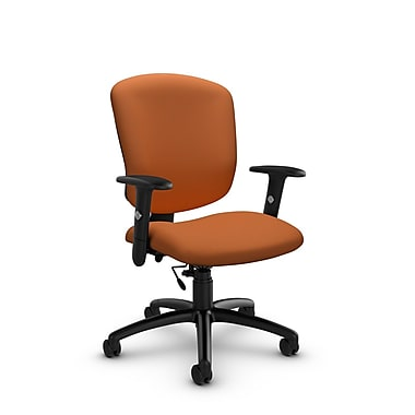 Global® (5336-6 IM81) Supra-X Task Chair, Imprint Paprika Fabric, Orange
