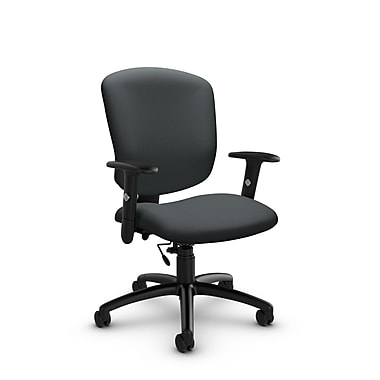 Global® (5336-6 IM83) Supra-X Task Chair, Imprint Slate Fabric, Grey