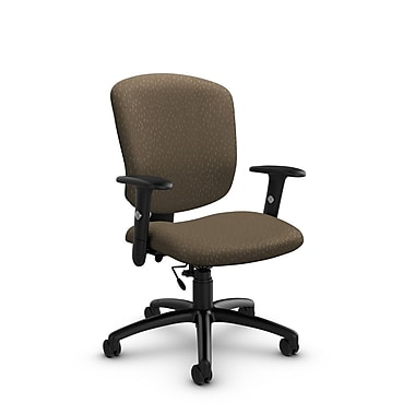 Global® (5336-6 MT21) Supra-X Task Chair, Match Sand Fabric, Brown