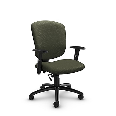 Global® (5336-6 MT22) Supra-X Task Chair, Match Moss Fabric, Green
