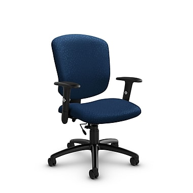 Global® (5336-6 MT26) Supra-X Task Chair, Match Wave Fabric, Blue