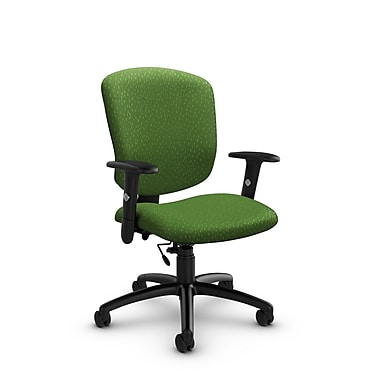 Global® (5336-6 MT27) Supra-X Task Chair, Match Green Fabric, Green