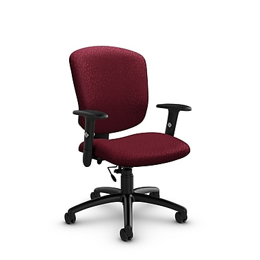 Global® (5336-6 MT29) Supra-X Task Chair, Match Burgundy Fabric, Red