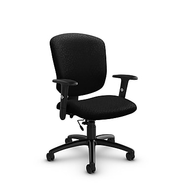 Global® (5336-6 MT32) Supra-X Task Chair, Match Black Fabric, Black