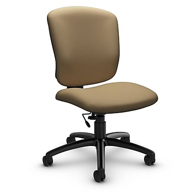 Global® (5337-6 IM71) Supra-X Armless Task Chair, Imprint Cork Fabric, Tan