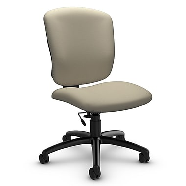 Global® (5337-6 IM72) Supra-X Armless Task Chair, Imprint Sand Fabric, Tan