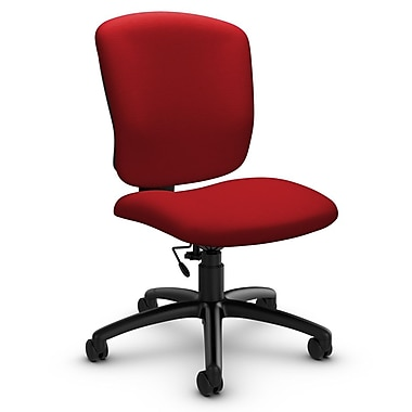 Global® (5337-6 IM74) Supra-X Armless Task Chair, Imprint Candy Apple Fabric, Red