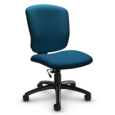 Global® (5337-6 IM76) Supra-X Armless Task Chair, Imprint Navy Fabric, Blue