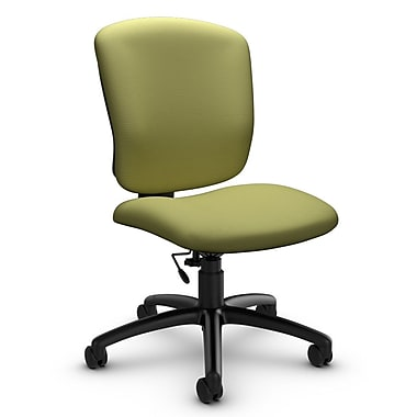 Global® (5337-6 IM78) Supra-X Armless Task Chair, Imprint Celery Fabric, Green