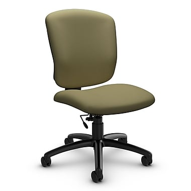 Global® (5337-6 IM79) Supra-X Armless Task Chair, Imprint Oregano Fabric, Green