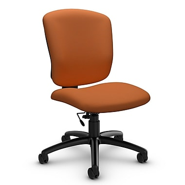 Global® (5337-6 IM81) Supra-X Armless Task Chair, Imprint Paprika Fabric, Orange