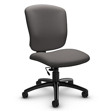 Global® (5337-6 IM82) Supra-X Armless Task Chair, Imprint Graphite Fabric, Grey