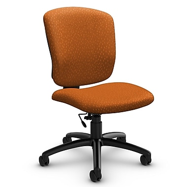 Global® (5337-6 MT23) Supra-X Armless Task Chair, Match Orange Fabric, Orange