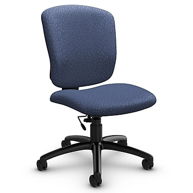 Global® (5337-6 MT25) Supra-X Armless Task Chair, Match Blue Fabric, Blue