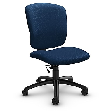 Global® (5337-6 MT26) Supra-X Armless Task Chair, Match Wave Fabric, Blue