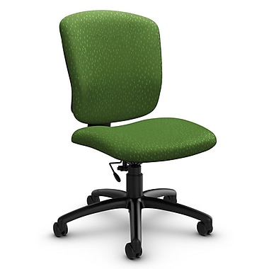 Global® (5337-6 MT27) Supra-X Armless Task Chair, Match Green Fabric, Green