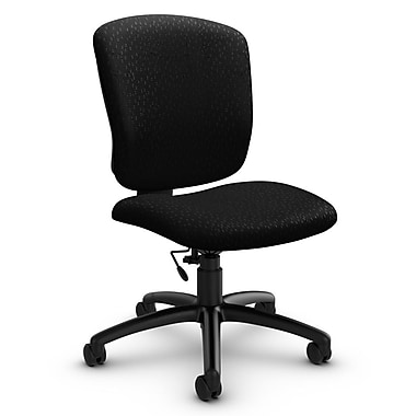 Global® (5337-6 MT32) Supra-X Armless Task Chair, Match Black Fabric, Black