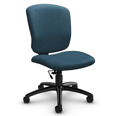 Global® (5337-6 MT33) Supra-X Armless Task Chair, Match Arctic Fabric, Blue