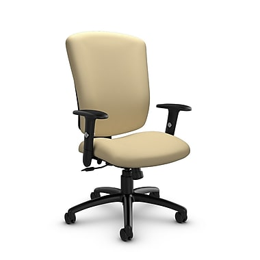 Global® (5333-4 IM70) Supra-X Tilter Chairs, Imprint Almond Fabric, Tan