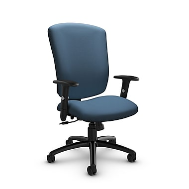 Global® (5333-4 IM75) Supra-X Tilter Chair, Imprint Ocean Fabric, Blue