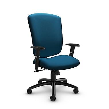 Global® (5333-4 IM76) Supra-X Tilter Chair, Imprint Navy Fabric, Blue