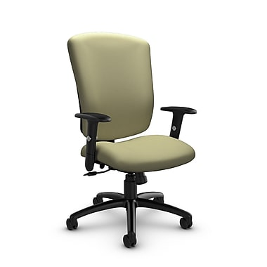 Global® (5333-4 IM77) Supra-X Tilter Chair, Imprint Green Tea Fabric, Green