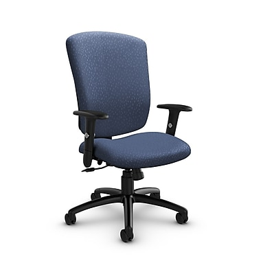Global® (5333-4 MT25) Supra-X Tilter Chair, Match Blue Fabric, Blue