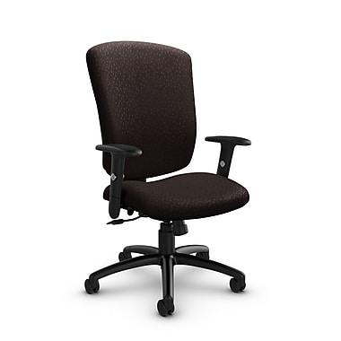 Global® (5333-4 MT28) Supra-X Tilter Chair, Match Chocolate Fabric, Brown