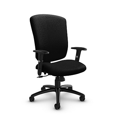 Global® (5333-4 MT32) Supra-X Tilter Chair, Match Black Fabric, Black