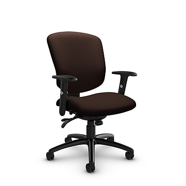Global® (5336-3 IM80) Supra-X Multi Tilter Chair, Imprint Walnut Fabric, Brown