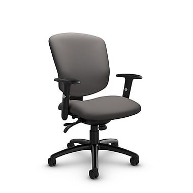 GlobalMD – Chaise multi-basculant Supra-X (5336-3 IM82), tissu imprimé graphite, gris