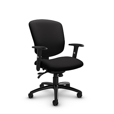 Global® (5336-3 IM84) Supra-X Multi Tilter Chair, Imprint Licorice Fabric, Black