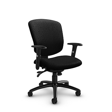 Global® (5336-3 MT32) Supra-X Multi Tilter Chair, Match Black Fabric, Black